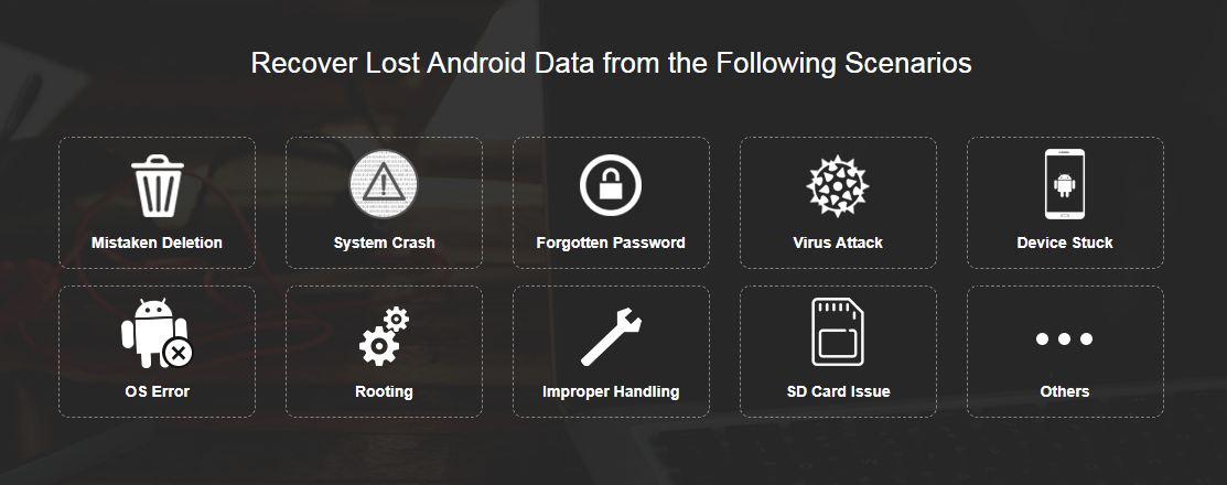 repair and recover android data files
