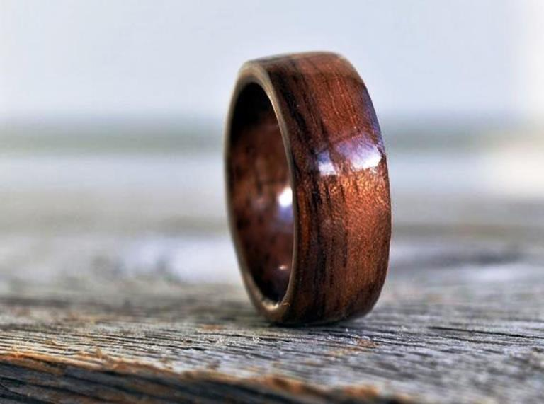 Wooden mens rings