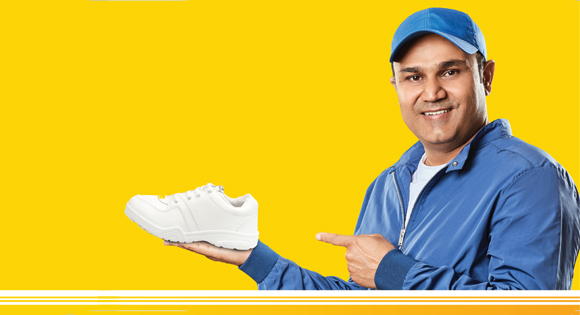 Sports Shoes Worn by Virender Sehwag in the latest TVC Ad 2019 – Asian Shoes