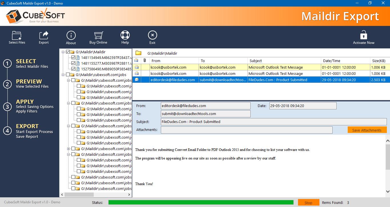 postfix export mail, maildir converter