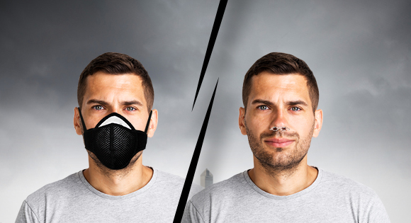 Your regular pollution Mask vs Nasofilters