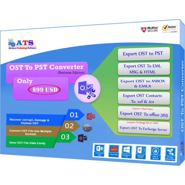 Features of ATS OST to PST Converter
