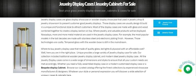 retail display cabinet