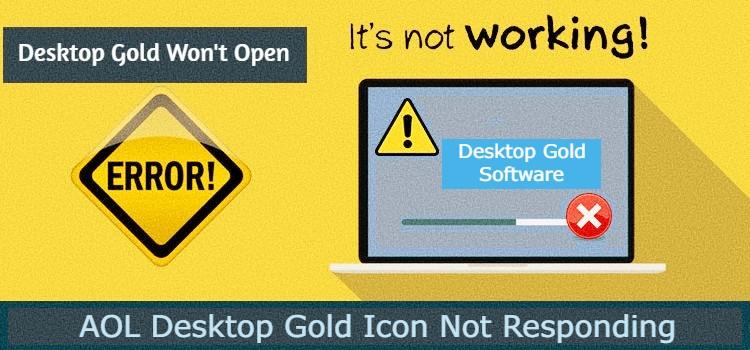 AOL Desktop Gold Won't Open or Not Responding