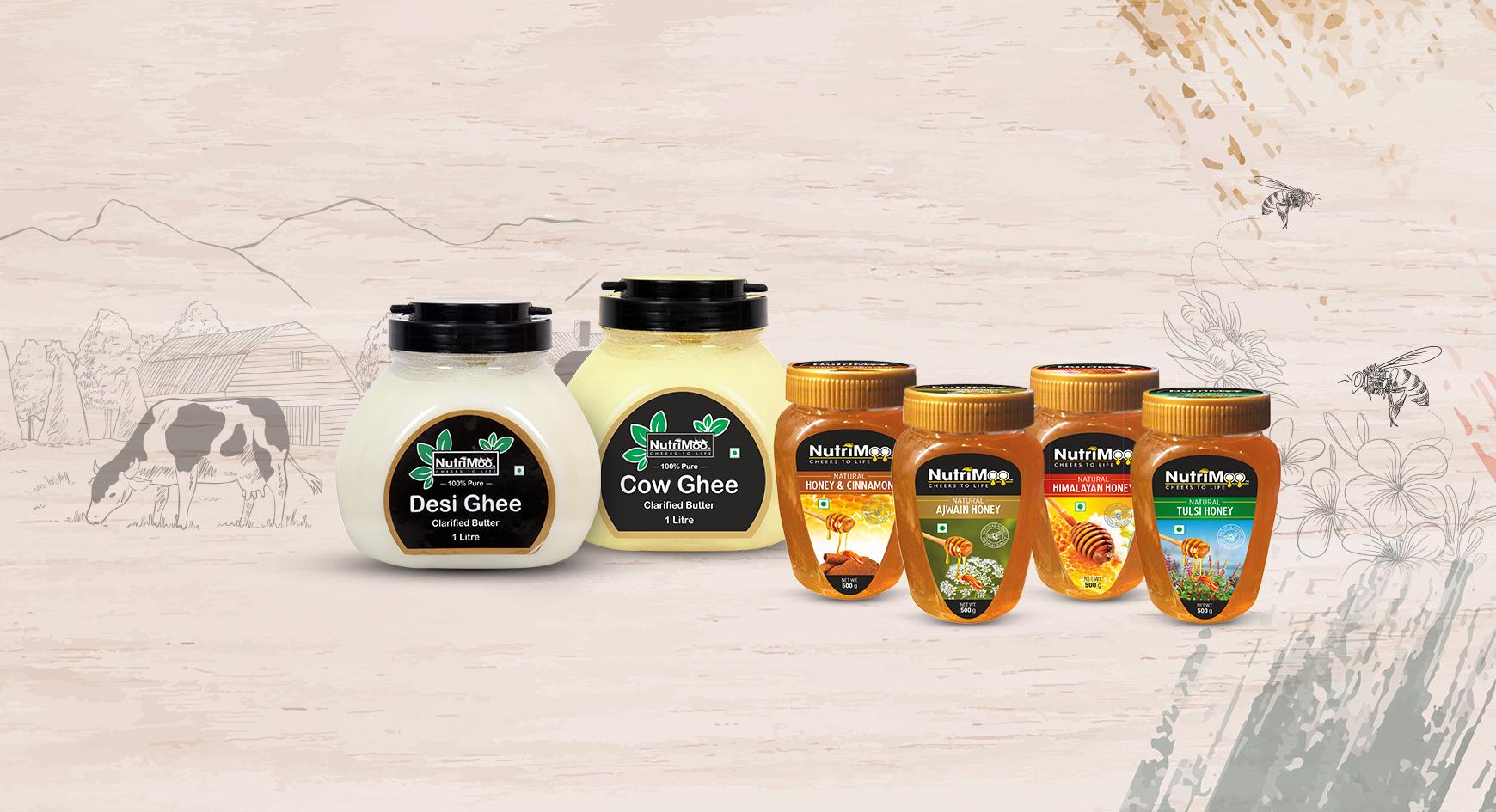 Nutrimoo Desi Ghee & Honey - A step towards purity and freshness