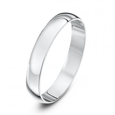 D-shape wedding rings