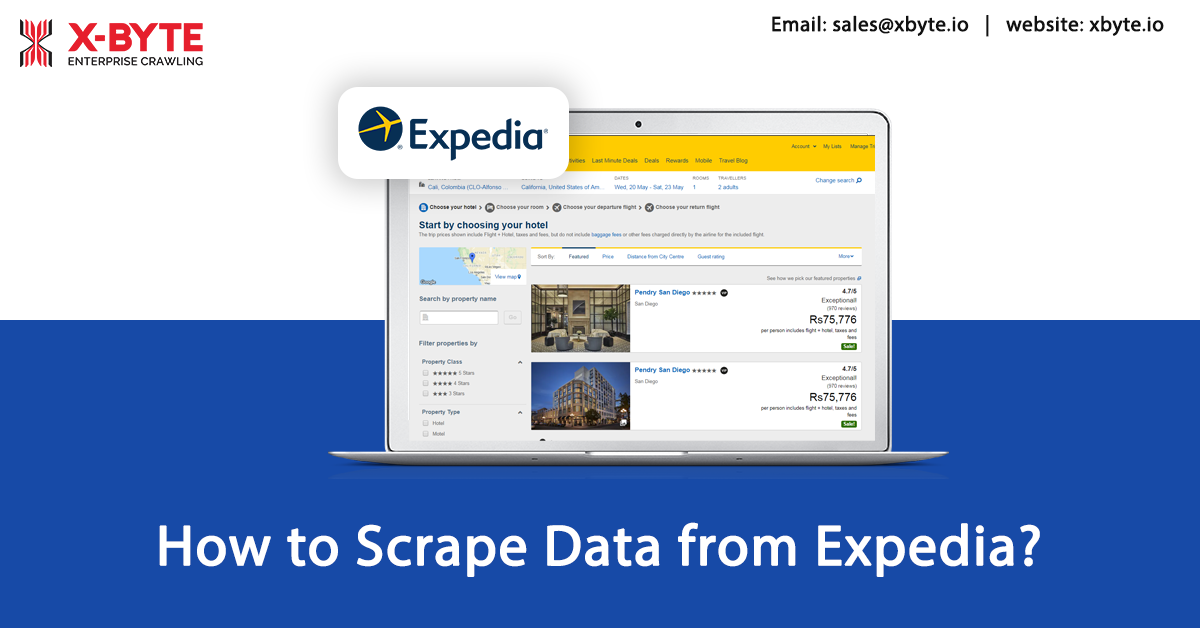 How to Scrape Flight and Hotel, Villa Price Data from Expedia