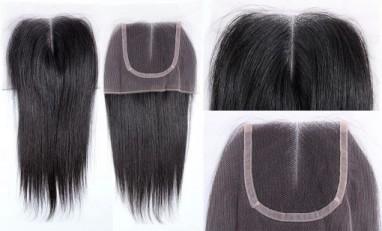 Virgin lace closure wig