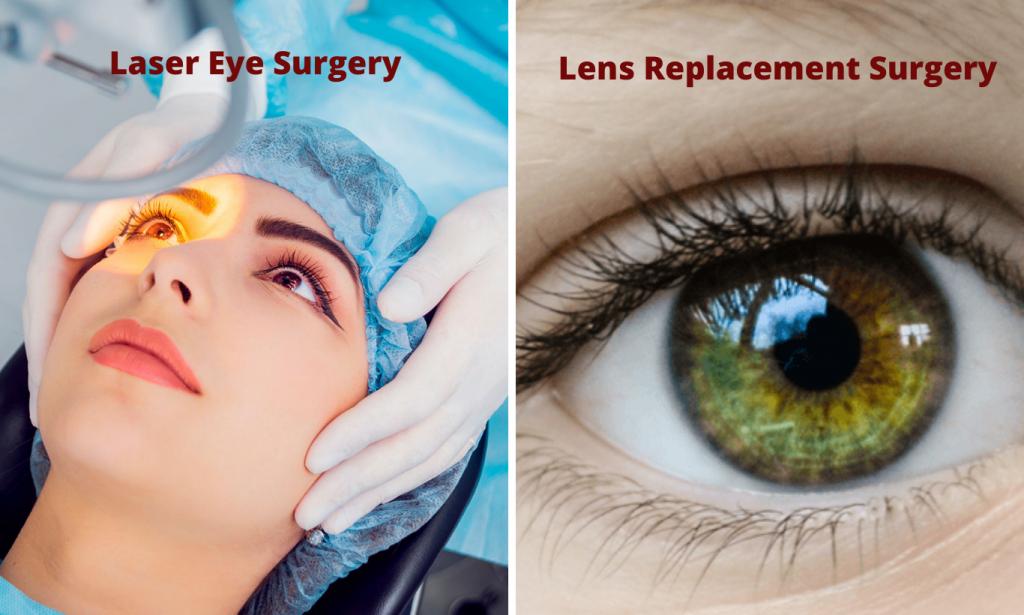 Laser Eye Surgery vs Lens Replacement Surgery