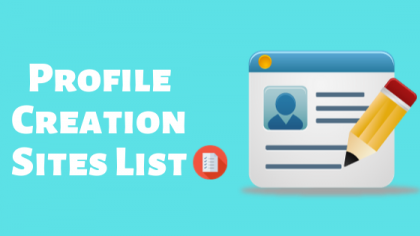 profile backlinks sites list 2020, free profile creation sites 2020, top free high page rank profile creation sites list, profile creation sites list for seo, profile page creation sites list