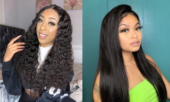 Ashimary human hair wigs lace front wig hair textures