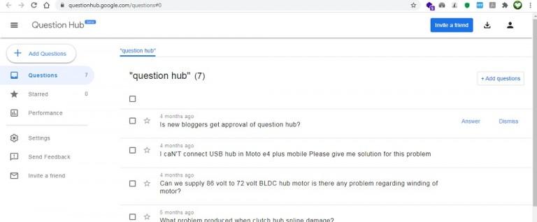 Google Question Hub Tool
