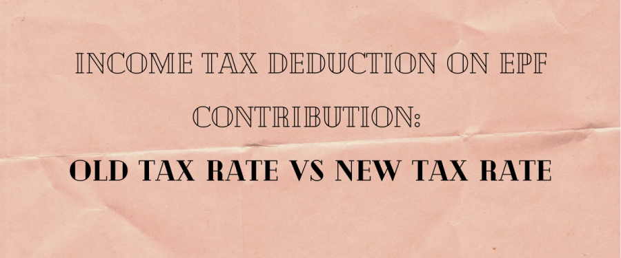 Income tax deduction on EPF contribution