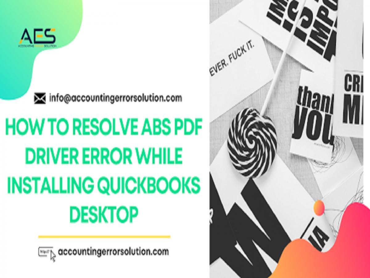 QuickBooks ABS Pdf Driver Error