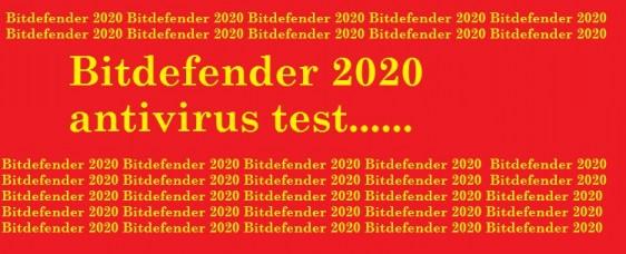 Bitdefender 2020 antivirus test