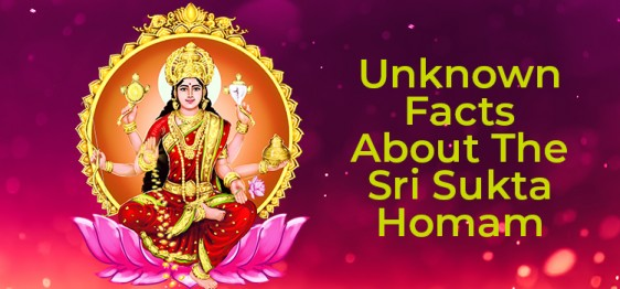 Unknown Facts About The Sri Sukta Homam