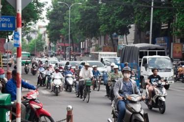 Motorcyclists Lane Splitting