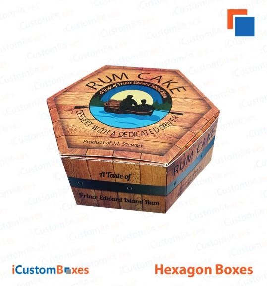 Amazing Printed Custom Hexagon Boxes For Sale