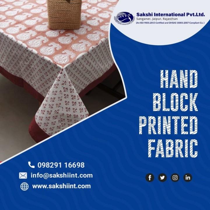 Hand Block Printed Fabrics Manufacturers