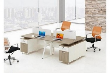 4 person workstation partition furniture