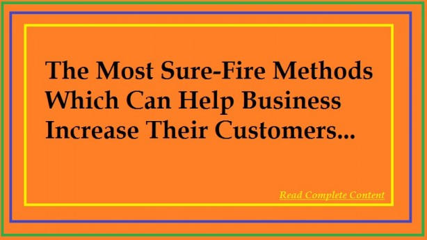 Business Increase Their Customers