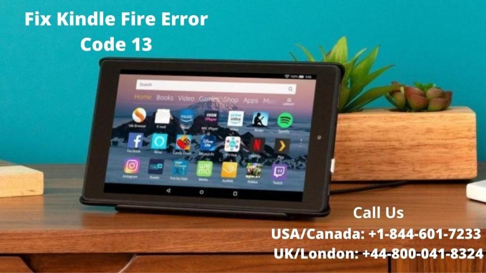 kindle fire error code 13