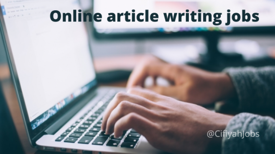 Online article writing jobs for student