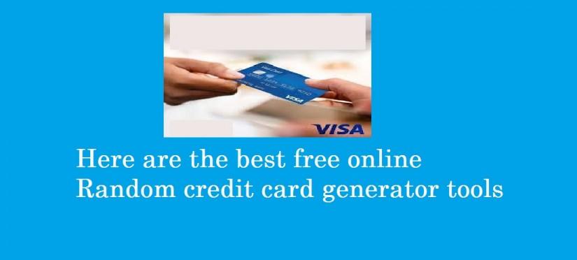 free online Random credit card generator tools